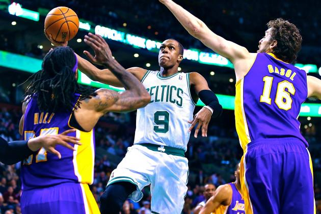 Grading Boston Celtics Point Guard Rajon Rondo in First Game Since ACL Injury