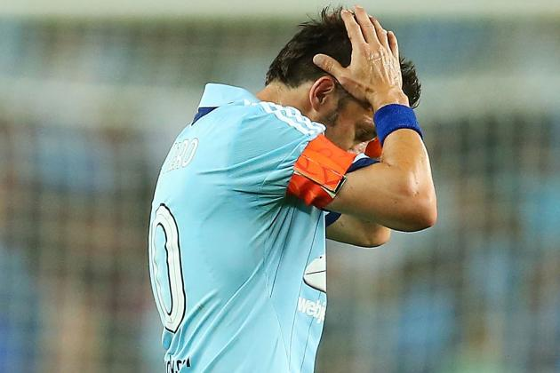 GIF: Alessandro Del Piero Proves He's Human with Awful Free-Kick Fail for Sydney