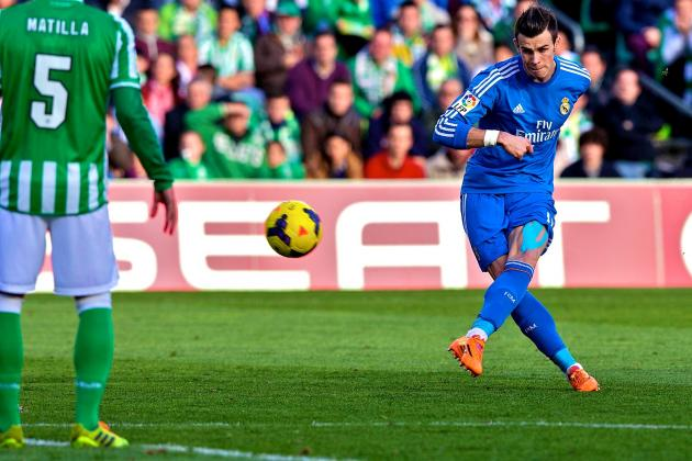 Watch Gareth Bale Score Free-Kick Golazo for Real Madrid at Real Betis