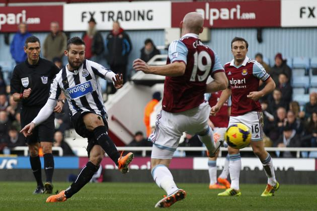 Analysing Yohan Cabaye's Performance for Newcastle vs. West Ham