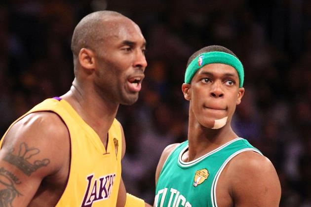 Kobe Bryant, Rajon Rondo Exchange Compliments by Calling Each Other A-Holes