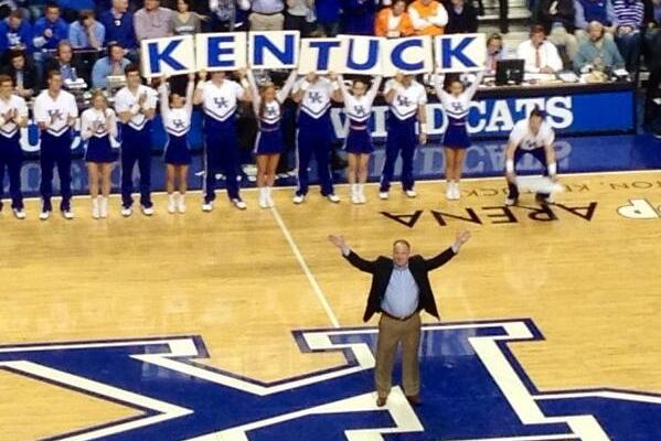 Photo: Mark Stoops Makes the 'Y' in 'Kentucky'