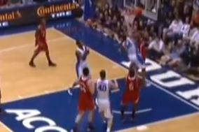 Video: NC State's Kyle Washington Erases a Dunk Attempt by Duke's Andre Dawkins