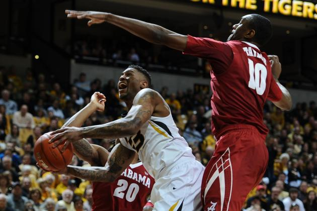 Brown Scores 24 as Missouri Beats Alabama 68-47