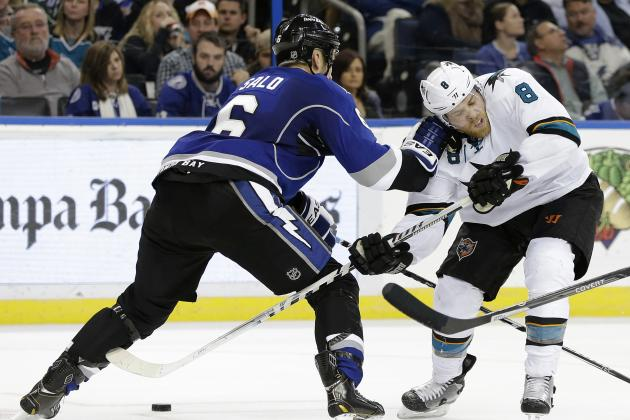 Martin St. Louis and Joe Pavelski Score Hat Tricks in Lightning vs. Sharks Game