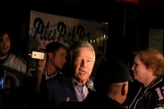 Patriots Owner Robert Kraft Shows Up at Patriots Fan Rally in Denver