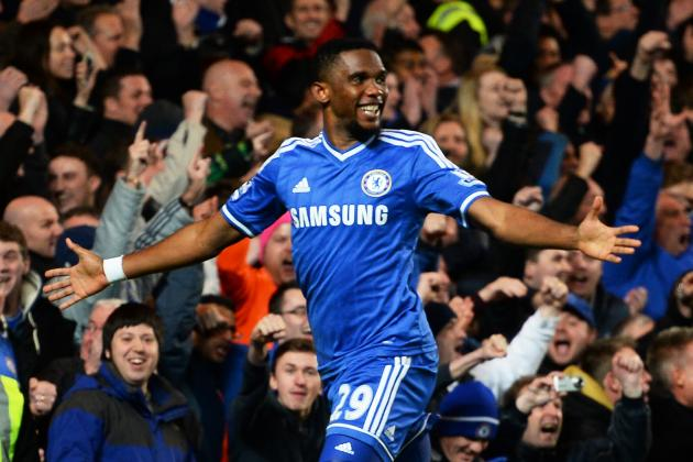 Premier League Week 22 Standout Stats: Eto'o Nets Hat Trick, City Reach Century