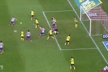 GIF: David Villa Scores for Atletico Madrid vs. Sevilla