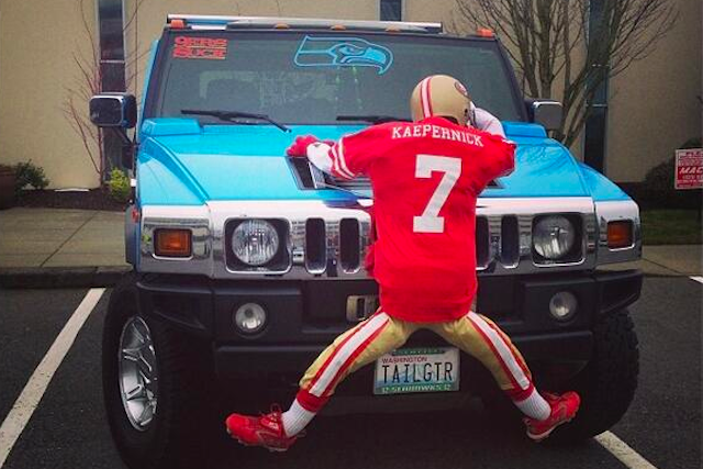Seahawks Fan with Hummer Returns, This Time 'Running Over' Colin Kaepernick