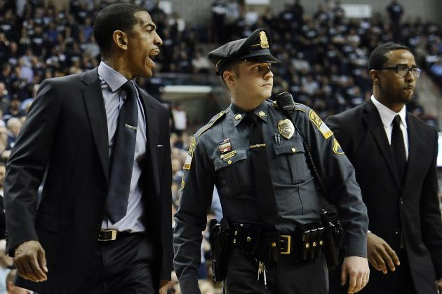 Kevin Ollie Ejected as Huskies Fall to Louisville