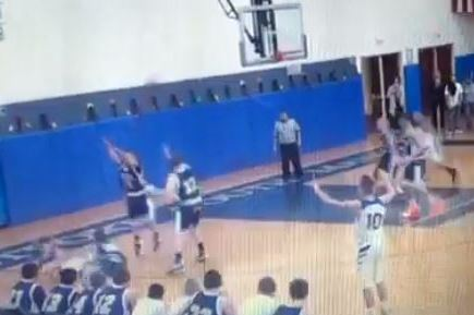 New York High Schooler Makes Wild Shot While Laying on Ground