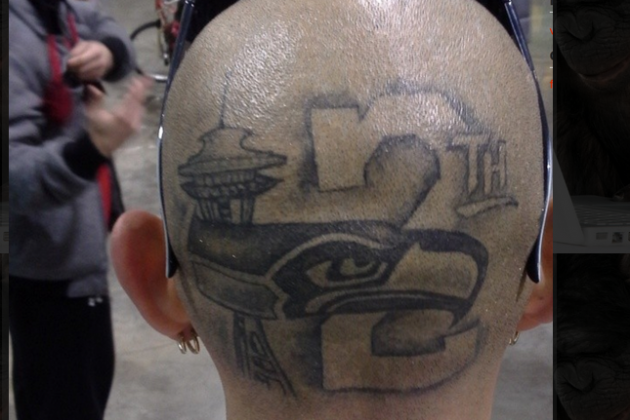 Seahawks Fan Sports Epic 12th Man Skull Tattoo