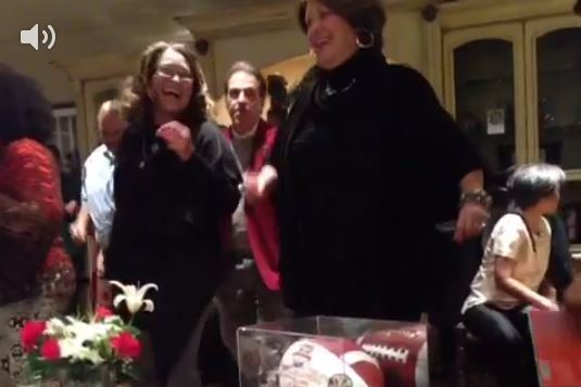 Nick Saban Does 'The Electric Slide' at Recruit Gathering