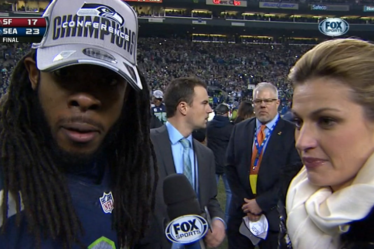 Richard Sherman Goes off During Epic Postgame Rant with Erin Andrews