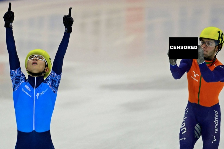 Speed Skater Flips Double-Bird at Opponent After Losing Race