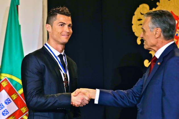 Cristiano Ronaldo Honored with Grand Officer of the Order of Prince Henry Award