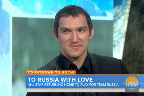 Alex Ovechkin Talks Sochi Olympics on NBC's Today Show