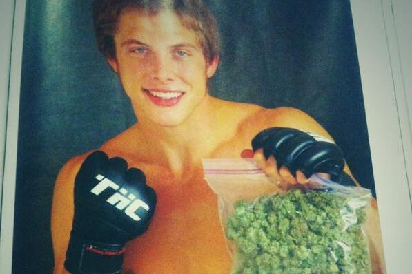 Photo: Matt Riddle Poses with Bag of Marijuana for Magazine Cover