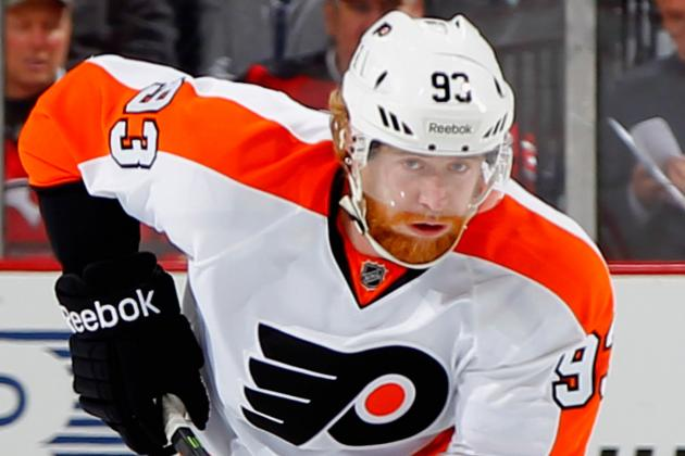 Jakub Voracek Suffers Upper-Body Injury vs. Islanders