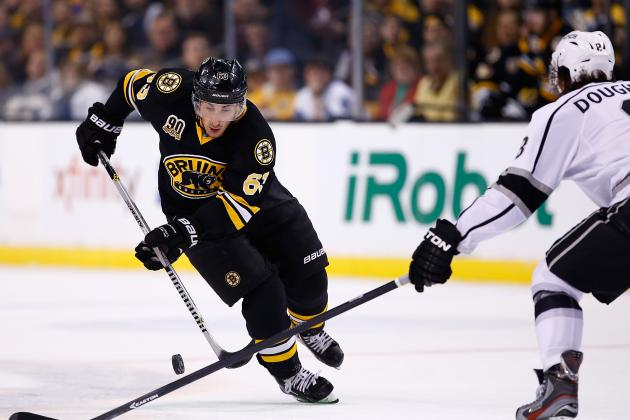 Brad Marchand Dekes Through LA Kings for Gorgeous Shorthanded Goal (Video)