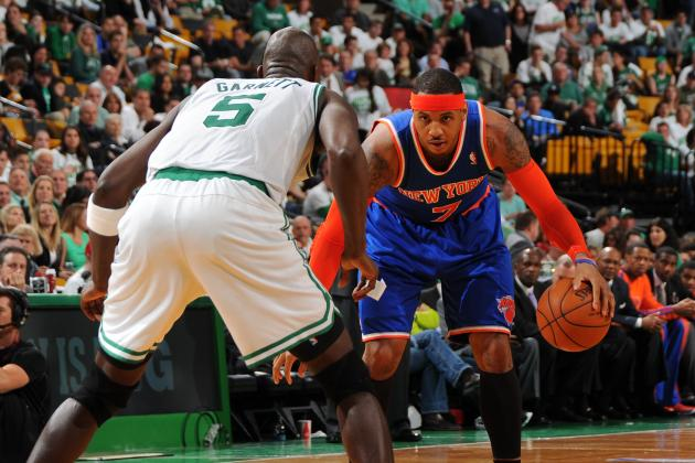 Carmelo Anthony Says He Has 'No Problem' with Kevin Garnett