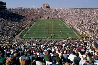 Notre Dame Stadium Tops List of College Football Stadium Experiences