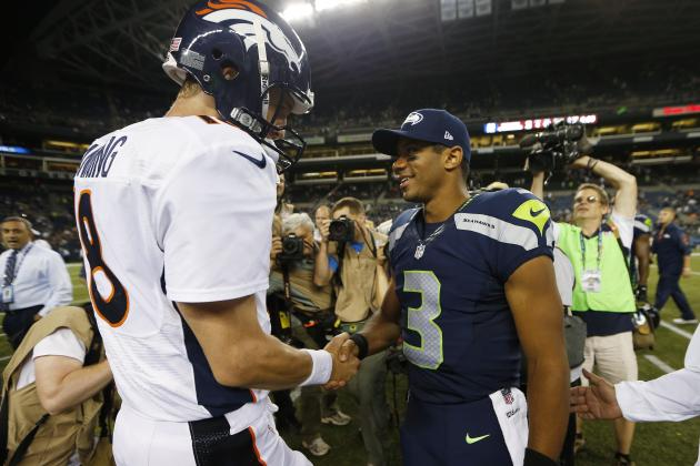 Peyton Manning vs. Russell Wilson: Tale of the Tape for Super Bowl XLVIII QBs