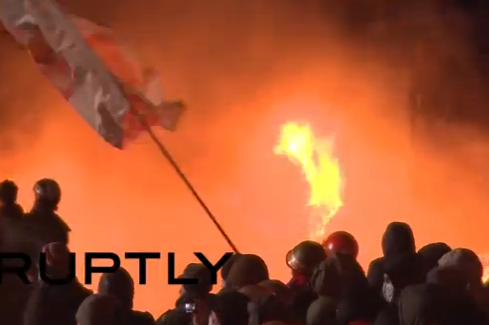 Dynamo Kiev's Stadium Set on Fire During Ukrainian Protest