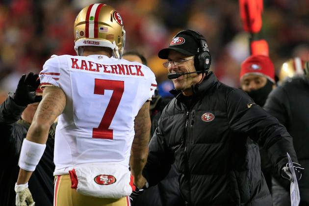 Jim Harbaugh: Colin Kaepernick 'Played His Ass Off'