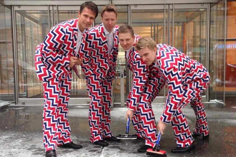 Norway's Curling Team Shows off Wild Uniforms for 2014 Sochi Olympics