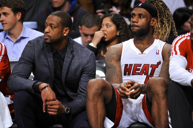 LeBron James Admits Dwyane Wade's Knee Issues Are 'Tough' on Miami Heat