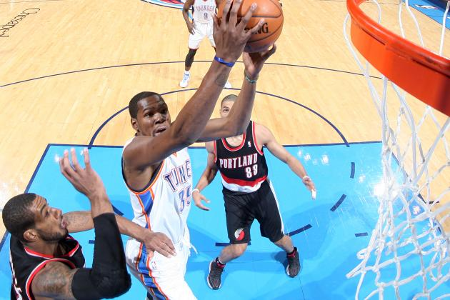 Durant's 46 Lifts Thunder Past Blazers 105-97