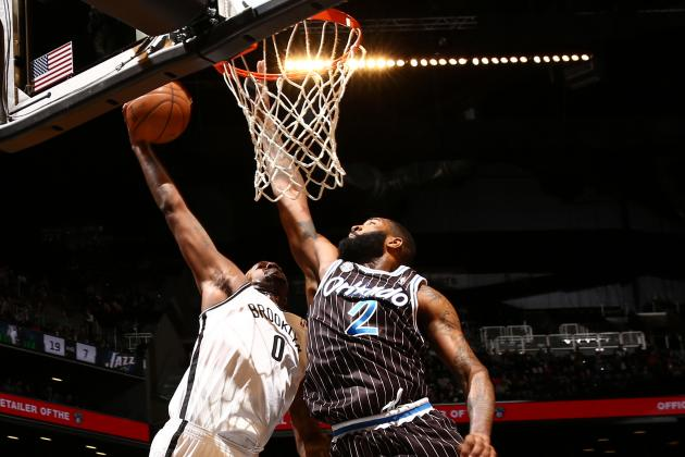 Andray Blatche Shakes Backboard with Dunk on Kyle O'Quinn
