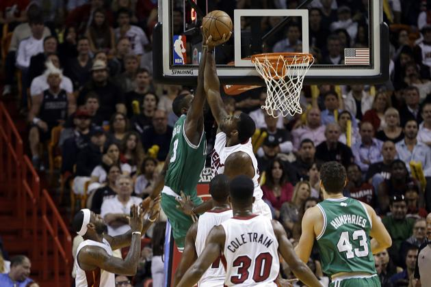 Greg Oden Blocks Jeff Green's Dunk Attempt