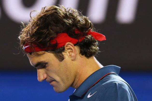 Federer cabisbajo - Melbourne '14
