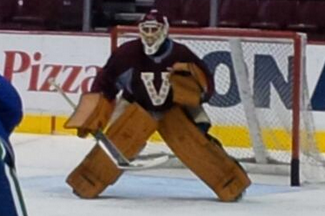 PHOTO: Roberto Luongo Practicing in Vintage Heritage Classic Gear