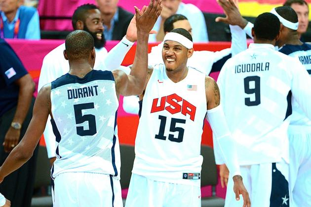 Report: LeBron James, Kevin Durant Headline 28-Man USA Basketball Roster