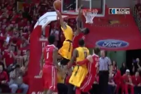 Wichita State's Tekele Cotton Posterizes Illinois State Player with Huge Slam