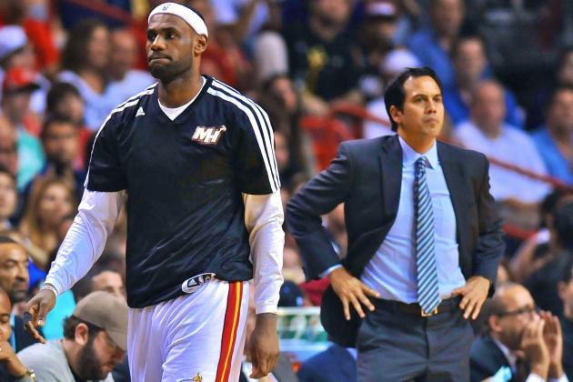 Miami Heat Notebook: Stiffening Schedule, Wade's Absence, Battier's Bumping