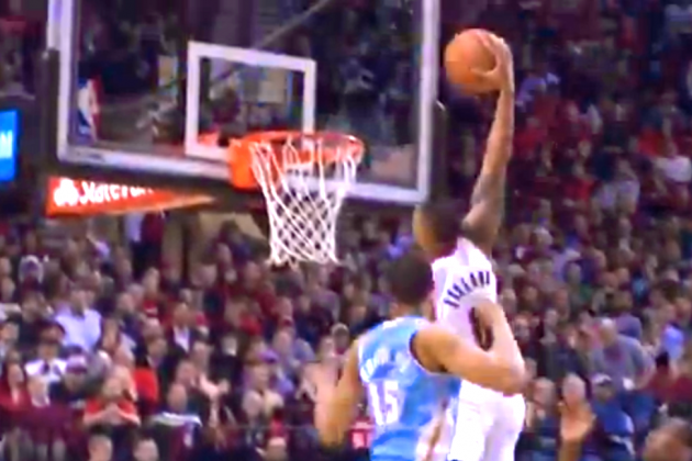 Damian Lillard Slices Through Denver Nuggets' Defense for Thunderous Dunk