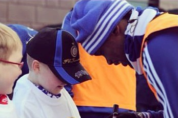 Samuel Eto'o Makes Young Fan's Dreams Come True with Kickabout at Chelsea