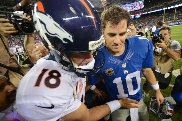 Peyton Manning Puts Brother Eli to Work