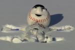 Mr. Met Enjoys a 'Snow Day' at Citi Field