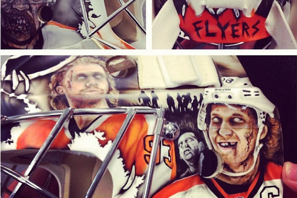 Instagram: Mason New Zombie Mask Features PHI Players