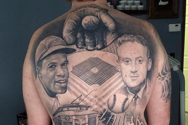 Los Angeles Dodgers Fan Gets Elaborate Full Back Tattoo