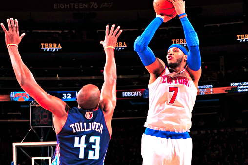 Carmelo Anthony Drops Knicks Record 62 Points vs. Bobcats