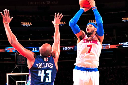 Carmelo Anthony Drops Knicks Record 62 Points vs. Bobcats