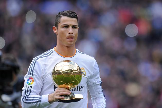 Santiago Bernabeu Honours Cristiano Ronaldo's Ballon D'Or Victory ...