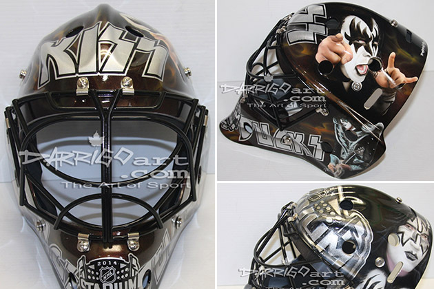 NHL Mask Maker Creates Awesome KISS Masks for Stadium Series