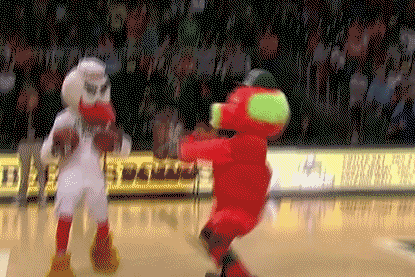 Video: Miami (FL) Mascot Hits Behind-the-Back Halfcourt Shot
